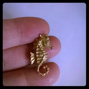 Vintage, ROMA Signed Sea Horse Pin